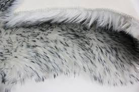 light grey faux fur rug