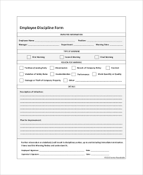 Employee Discipline Form 6 Free Word Pdf Documents Download