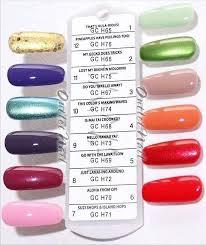 Opi Color Chart Rare Opi Shellac Nail Color Chart 2019