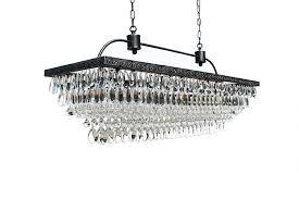 the weston inch rectangular glass drop crystal chandelier pink ceiling fan teardroprings bridal lighting table lamp