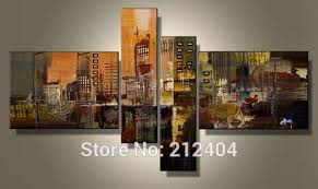 hand painted 4 piece wall art multi panel canvas oil painting huge canvas home decor for on huge wall art pieces with hand painted 4 piece wall art multi panel canvas oil painting huge