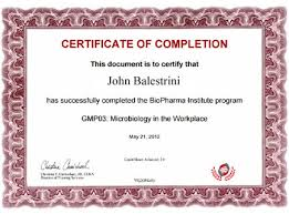 sample certificates of completion sample biopharma institute certificate biopharma institute