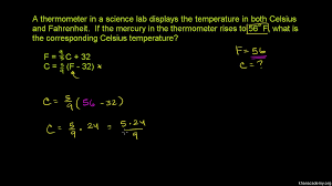 Converting Fahrenheit To Celsius
