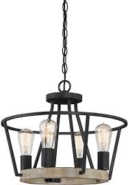 quoizel brt1717gk brockton modern grey ash mini chandelier lamp loading zoom