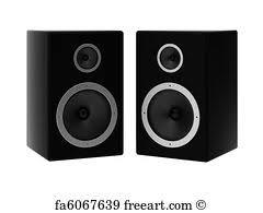 speakers art. speakers art print - 3d render of two f