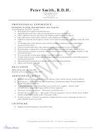 Resume Sample Dental Hygienist Resume Sample Free Dental Hygiene