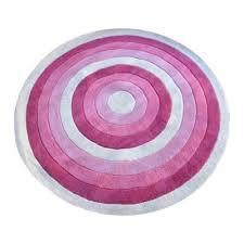 aerial hand tufted wool kids round rug 160cm pink