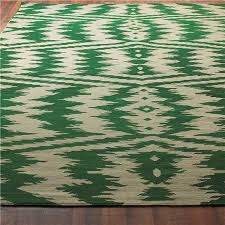 ikat stripe dhurrie rug emerald green and taupe emerald green area rug