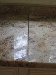 broken granite countertop seam