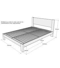 Minimum Bedroom Size For Double Bed Sherwood Solid Oak King Bed Frame 5ft