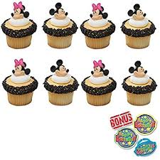 Amazoncom Minnie And Mickey Mouse Cupcake Toppers And Bonus