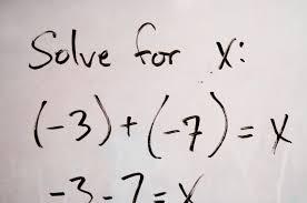 an algebraic equation is displayed on whiteboard