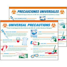 Amazon Com Universal Precautions Training Tools Wallchart