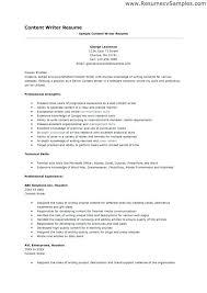 Writer Resume Examples Freelance Writer Resume Example Examples Of