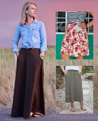 Love Notions Patterns Beauteous Love Notions Ravinia Skirt PDF Pattern With Pockets XSXXXL