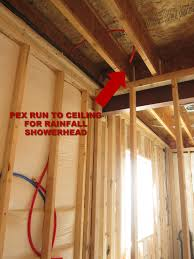how to put up drywall in basement pex shower head