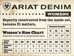 Ariat Jeans Size Chart Australia 43 Abiding Ariat Childrens Size Chart