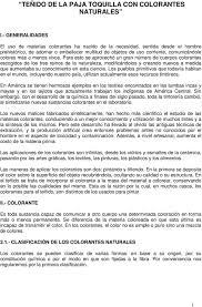 Manual De Te Ido De Paja Toquilla Con Colorantes Naturales Catacaos