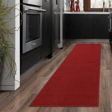 ottohome collection carpet aisle design red 2 ft x 5 ft runner rug