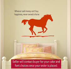 horse wall decal girls room quote decal wall words decal teen bedroom decal dorm room decor 23 x 33 inches wall decor stickers amazon  on horse wall decor stickers with horse wall decal girls room quote decal wall words decal teen
