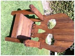 unique wood chair. Wooden Adirondack Skull Chairs Unique Wood Chair