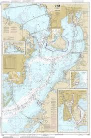 Gulf Coast Nautical Charts Tampa Bay 2014 Old Map Nautical Chart Ac Harbors 11416