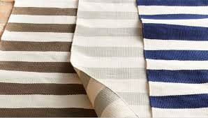 above dash albert s seaside stripes outdoor rugs are made from polypropylene s start at 99 for the 3 by 5 foot size and go up to 559 for the