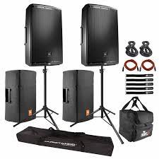 speakers jbl professional. (2) jbl pro eon615 two-way multipurpose active sound reinforcement speaker with 15 speakers jbl professional