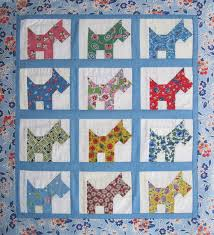 Martha's scottie dog doll quilt (not vintage, but awesome ... & Martha's scottie dog doll quilt (not vintage, but awesome) Adamdwight.com