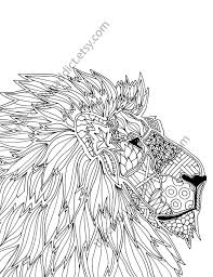 Small Picture animal coloring page adult coloring page digital lion