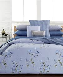 calvin klein blue flower bedding