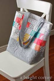 Best 25+ Quilted tote bags ideas on Pinterest | Diy bags tutorial ... & Scrappy Quilted Tote Bag (A Bright Corner) Adamdwight.com