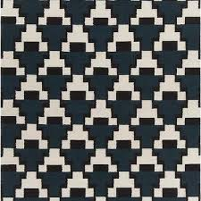 black and white geometric rug. avon collection blue and black white hand-woven area rug by chandra rugs geometric
