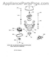 ge wh1x2026 drive belt appliancepartspros com part diagram