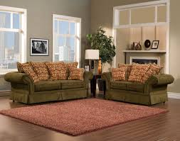 Traditional Sofas Living Room Furniture 2 Piece Traditional Olive Green Sofa Set