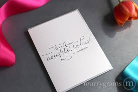 son daughter in law wedding card for wedding day marrygrams Wedding Card Verses For Son And Daughter In Law son daughter in law wedding card to our son & new daughter in law wedding card messages for son and daughter in law