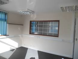 the offices are fully fitted and include carpeting cat 2 lighting as well as dado trunking for data and power cat 2 office lighting