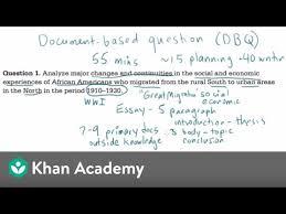 Ap Us History Dbq Example 1 Video Khan Academy