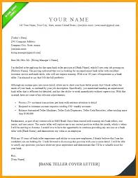 Bank Teller Experience Resume Impressive Bank Teller Cover Letter No Experience Example Examples For Sample R
