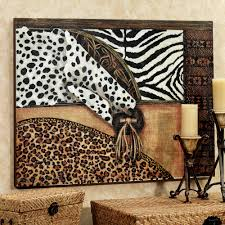 animal print canvas wall art