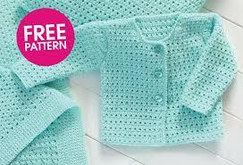 Free Crochet Baby Sweater Set Patterns