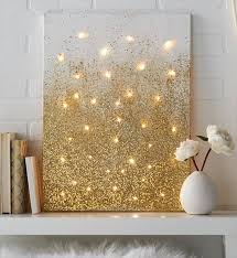 diy string light backlit canvas art ideas crafts light up glitter canvas on diy backlit pallet wall art with 12 gorgeous cheap string light ideas diy to make