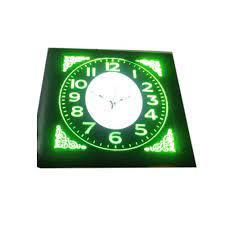 glass lighted wall clock