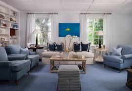 Beach House Coastal Living Room Palm Beach Blue And White - White beach house interiors
