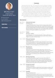 Executive Secretary Resume Samples Templates Visualcv