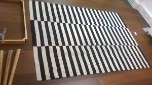 two large black and white striped rugs excellent central london bargain