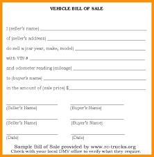 Bill Of Sale Receipt Template Claff Co