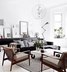 scandinavian leather furniture. scandinavian lounge with black leather sofa google search furniture