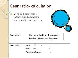 How To Read Gear Ratio Chart