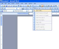 Office Word Format Insert Table In Microsoft Word 2003 Microsoft Office Support